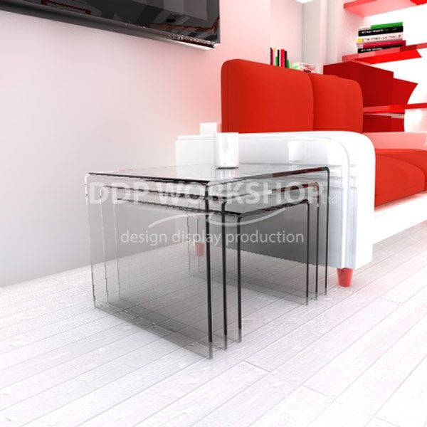 Clear Acrylic Nest of Tables