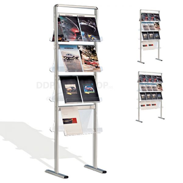 Florence Double Sided Floor Standing Brochure Display