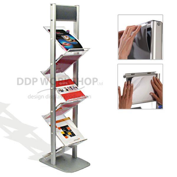 The Ziz Zag Double Sided Floor Standing Brochure Stand