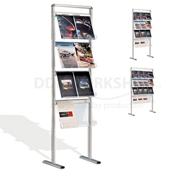 Florence Single Sided Floor Standing Brochure Display