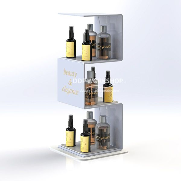 Waterfall Cosmetic Display Counter Merchandiser