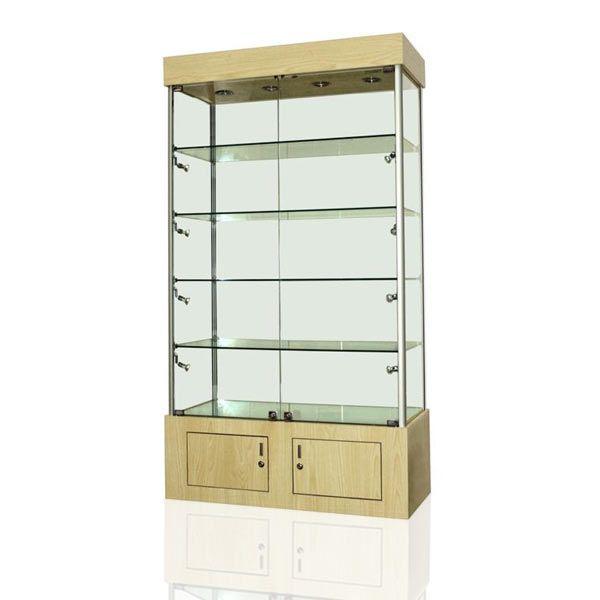 BC10 White Oak Display Cabinet