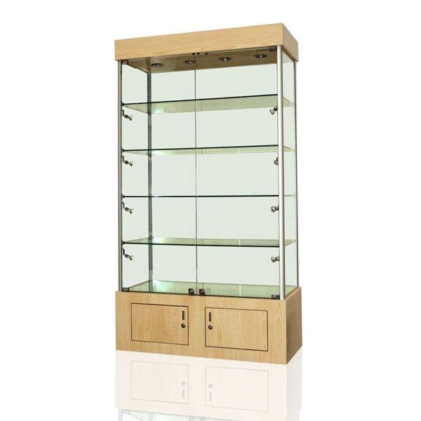 4 Shelf Beech Display Cabinet BC10