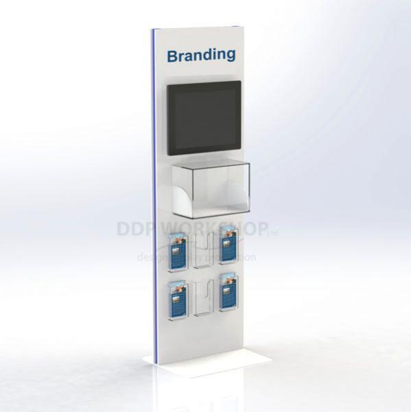 Multimedia Display Case and Leaflet Display