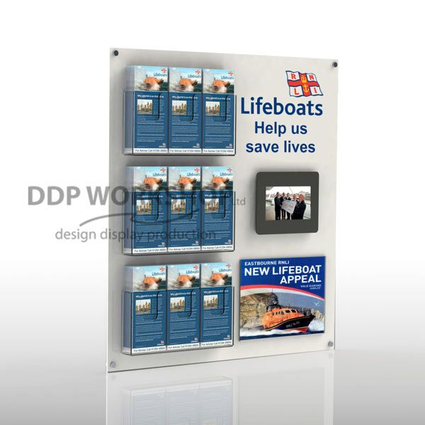 Multimedia Wall Board Leaflet Display Table Top And Wall