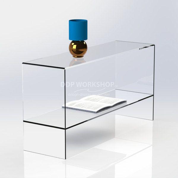 Magnum Clear Acrylic Table with Shelf