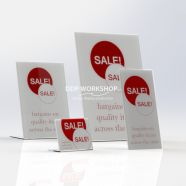 Lean Back Table Top Acrylic  POS Holder