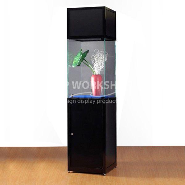 Pedestal display cabinet Branding Head Panel SV1 500-2200/500-O-Black