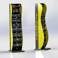 2 Tone Curved Front Floor Standing Retail Display
