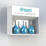 Acrylic Cosmetic Display Wall Cabinet