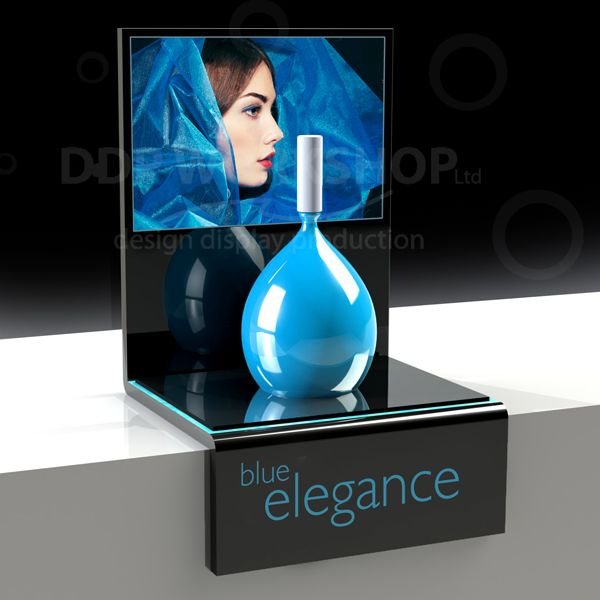 Perfume Display With Point Of Sale Branding Cosmetic
