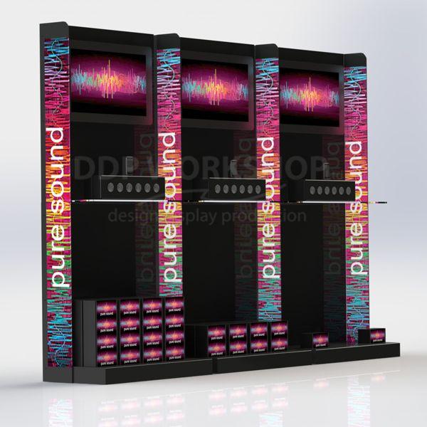 Multimedia Product Wall Display