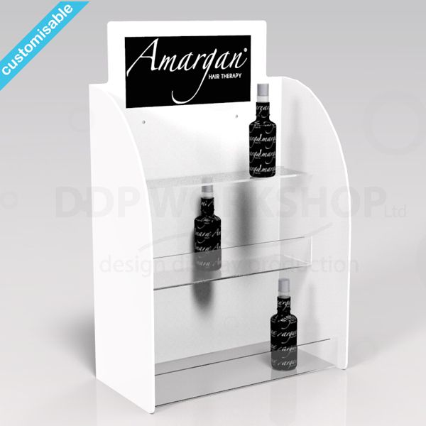 3 Tier Cosmetic Display Stand Acrylic