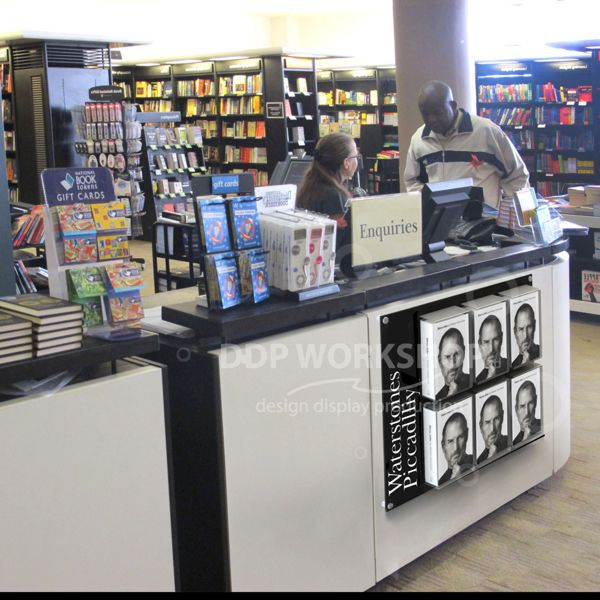 Counter Front Acrylic Book Display Promotional Stand