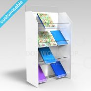 4 Shelf Acrylic Book Display