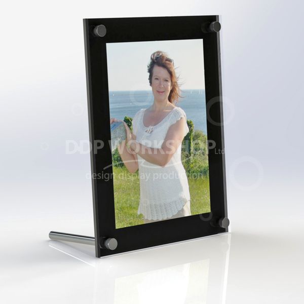 Acrylic Photo Frame Chrome