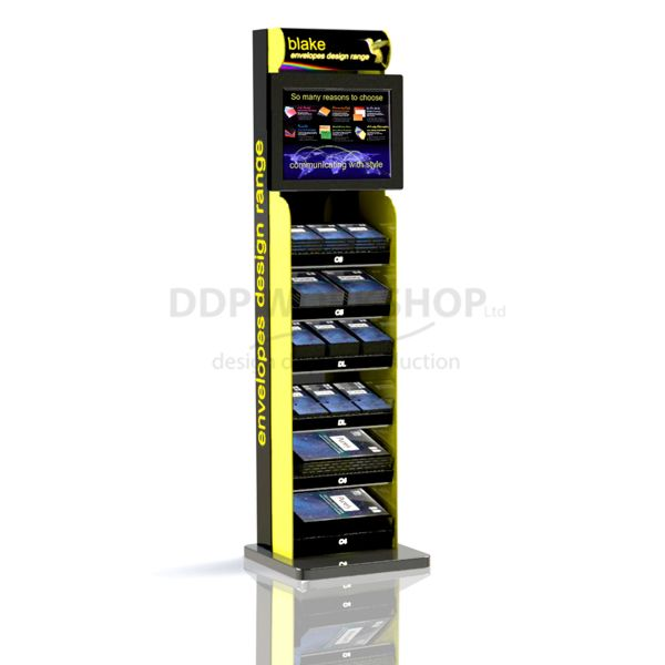 Pillar Multimedia Shelf Display Stand
