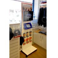 Interactive Multimedia Ipad Display Stand with Leaflet Holders