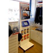Floor standing Digital Screen Ipad Display Combo