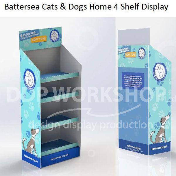 Battersea 4 Shelf Cardboard Display for Toys