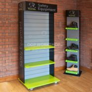 Retail Slatwall Wooden Display Stand on Wheels