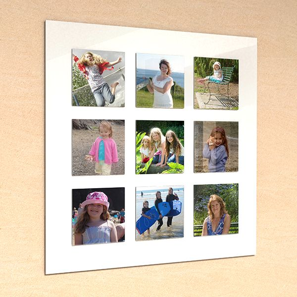 Nine Slot Acrylic Photo Frame