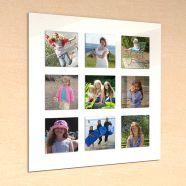Nine Slot Acrylic Photo Frame
