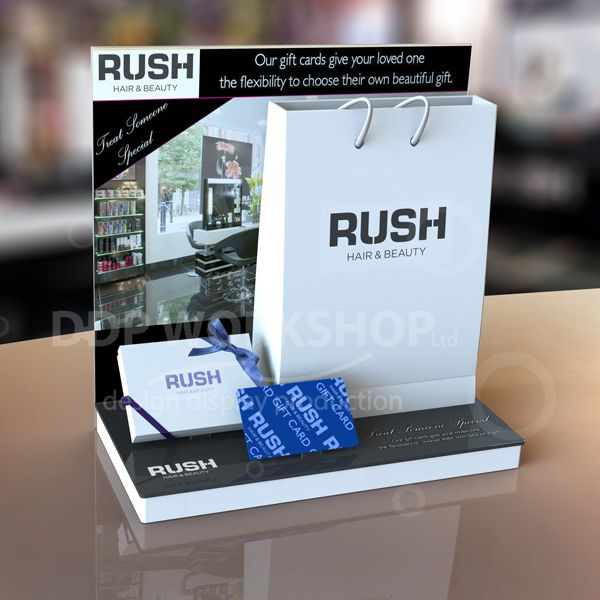 Rush Gift Card Display Product Merchandiser Counter And Table Top