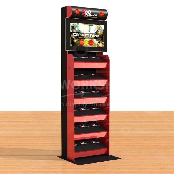 6 Shelf Multimedia Display Stand