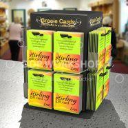 Gift Card Spinner Display 16 - Acrylic