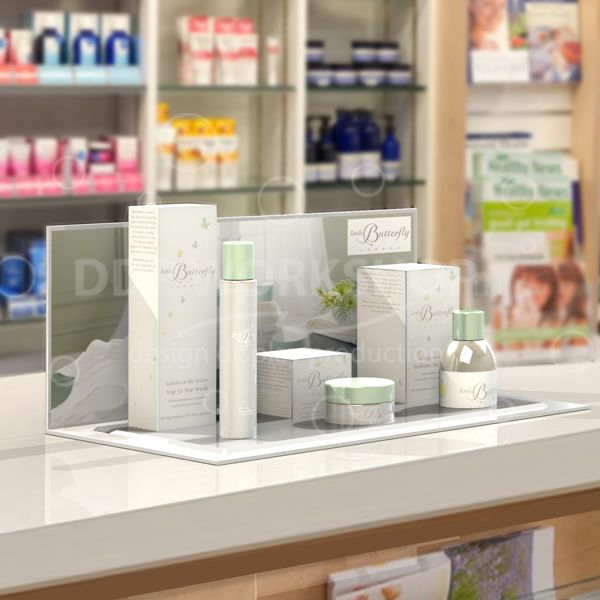 Crystal Top Cosmetic Counter Display