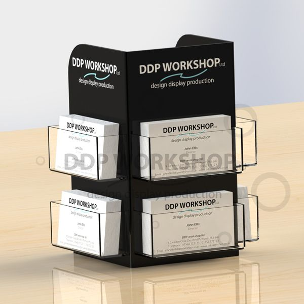 Perspex business card holder 3 sided cdu point of sale displays perspex business card holder 3 sided cdu reheart Image collections