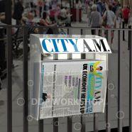Newspaper Railings Display