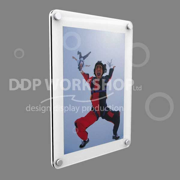 Wall Mounting Acrylic Picture Frame - Rounded