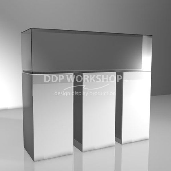 3 Column Display Cabinet