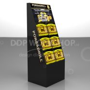 Six Pocket Floorstanding Cardboard Display Stand