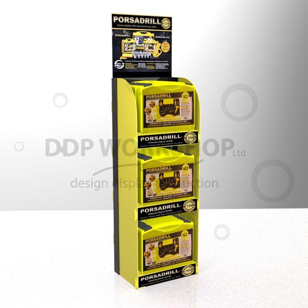 3 Shelf Tool Display Merchandiser