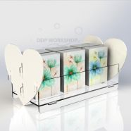 Heart Double Sided Acrylic Card Display