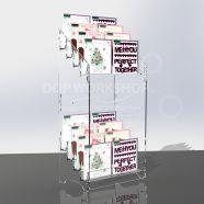 Clear 8 Tier Acrylic Card Display
