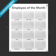 Employee of the Month Board Small