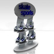 8 Shelf Sports Display