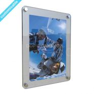 Frosted Acrylic Frame with Rounded Corners