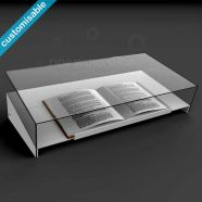 Book Display Lectern with Acrylic Cover