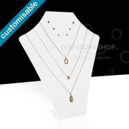 Tall White Acrylic Necklace & Earring Display