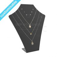 Tall Black Acrylic Necklace & Earring Display