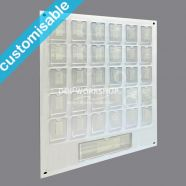 Staff Photoboard with Footer Organisation Pocket