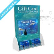 Gift Card Stand with Poster Display