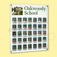 Staff Photo Board with Vinyl Graphics