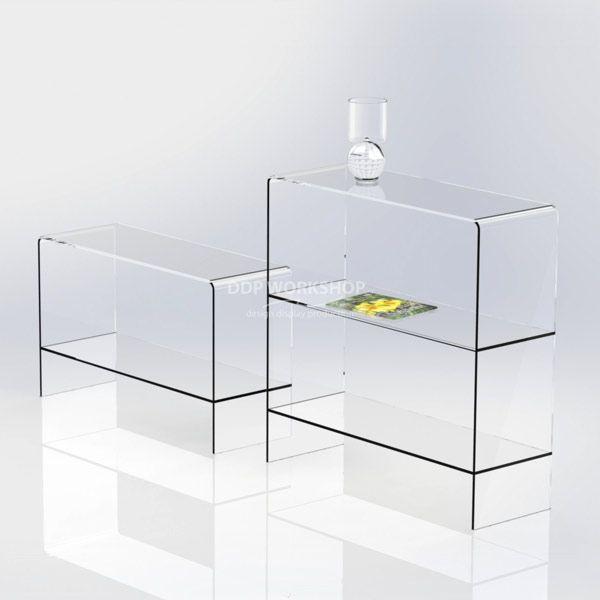Clear Acrylic Table with Shelf