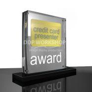 Acrylic Credit Card Presenter on Base